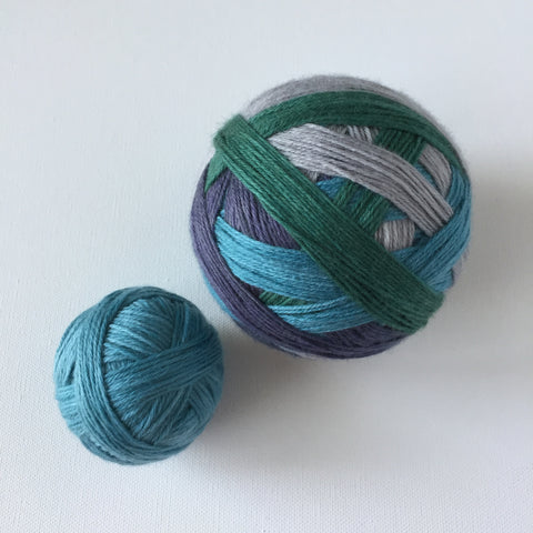 """Spire Cove"" Self-striping Sock Yarn"