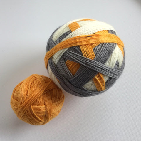 """Just Rollin' Along!"" Self-striping Sock Yarn"