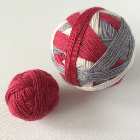 """Crimson"" Self-striping Sock Yarn"
