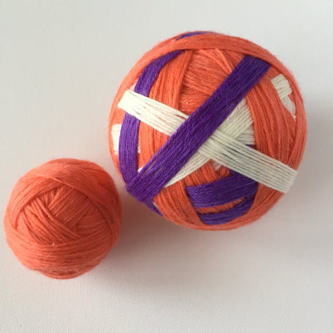 """Clemson"" Self-striping Sock Yarn"
