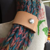 Minimalist Leather Shawl Cuff