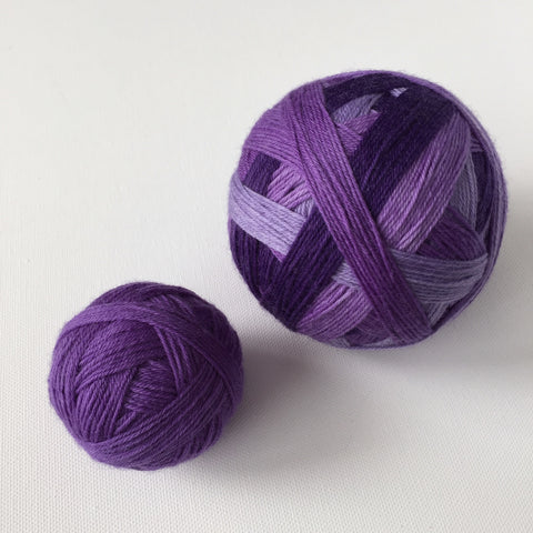 """She Wore Uu Violet"" Self-striping Sock Yarn"