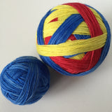 """What's Your Superpower?"" Self-striping Sock Yarn"