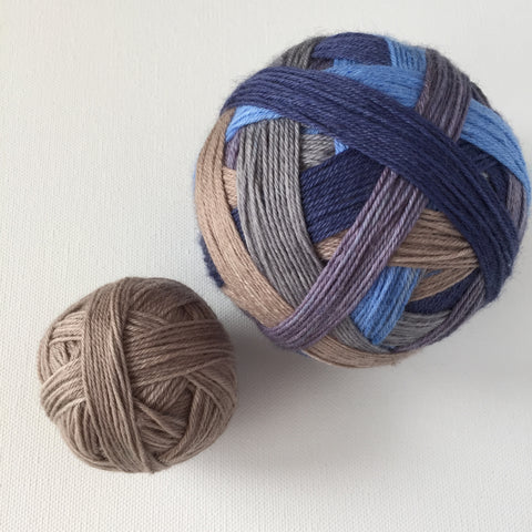 """School Daze"" Self-striping Sock Yarn"
