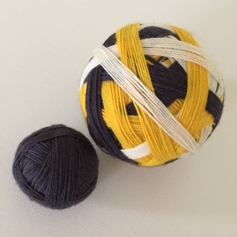 """Boston Bruins"" Self-striping Sock Yarn"