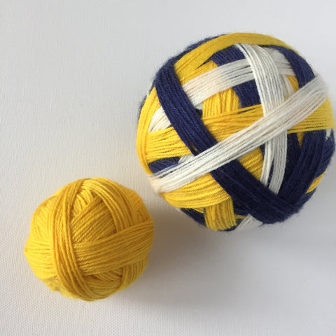 """Welcome to Smashville!"" Self-striping Sock Yarn"