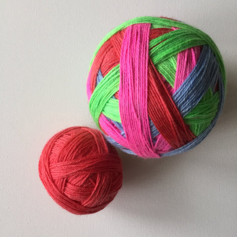 """The Lovely Hearts Club Band"" Self-striping Sock Yarn"