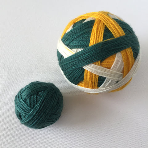 """Green Bay Packers"" Self-striping Sock Yarn"