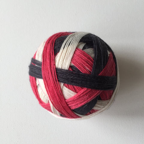"""Blackhawks"" Self-striping Sock Yarn"