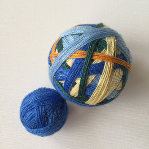 """The Starry Night"" Self-striping Sock Yarn"
