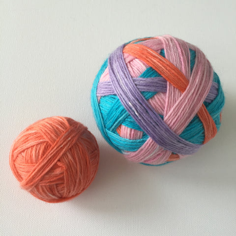"""Orange You My Friend?"" Self-striping Sock Yarn"