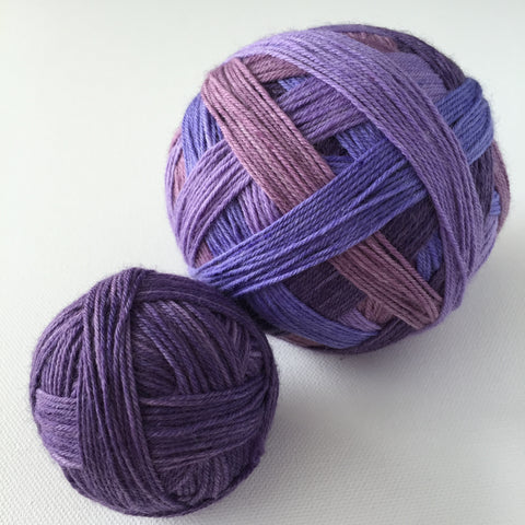 """I Enjoy Being Purple"" Self-striping Sock Yarn"