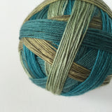 """It's Not Easy Eating Greens!"" Self-striping Sock Yarn"