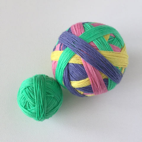 """Hey Macaron-a!"" Self-striping Sock Yarn"