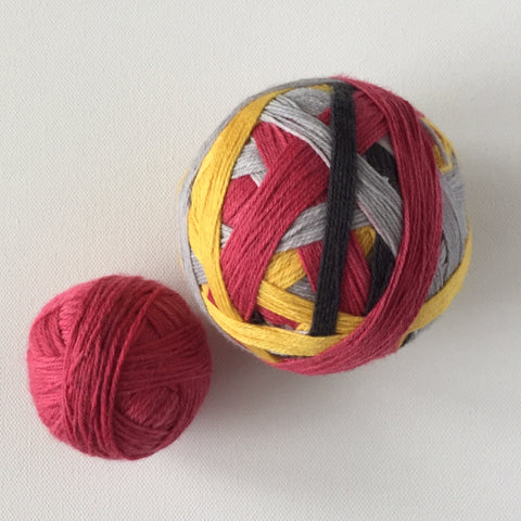 """Loyal, Brave, and True 忠勇真"" Self-striping Sock Yarn"