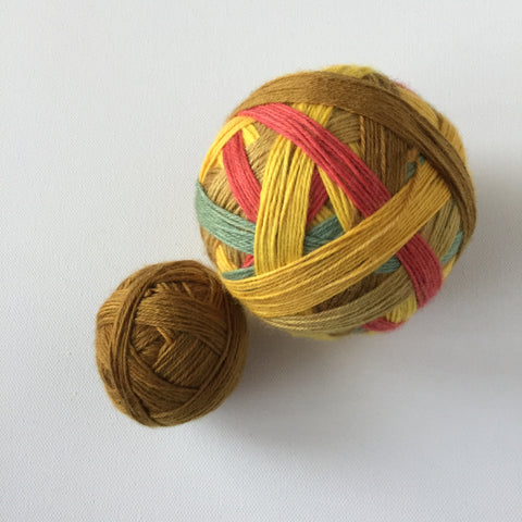"""Sunflowers"" Self-striping Sock Yarn"