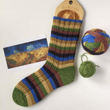 """Wheat Field with Crows"" Self-striping Sock Yarn"