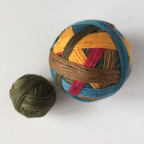 """The Windmill"" Self-striping Sock Yarn"