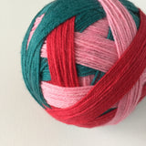 """Rose Garden"" Self-striping Sock Yarn"