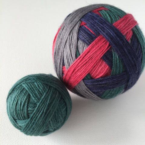 """Gray Garden"" Self-striping Sock Yarn"