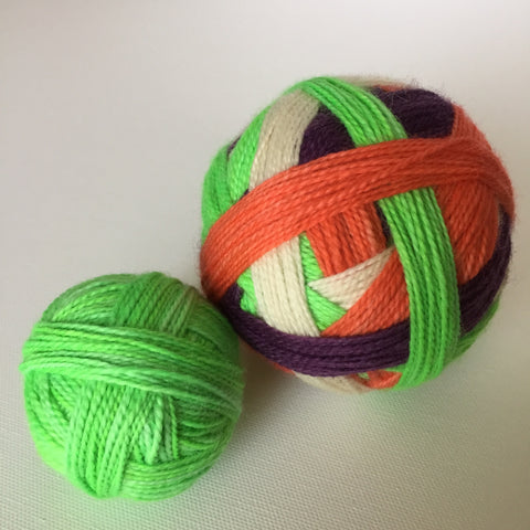 """October 31"" Self-striping Sock Yarn"