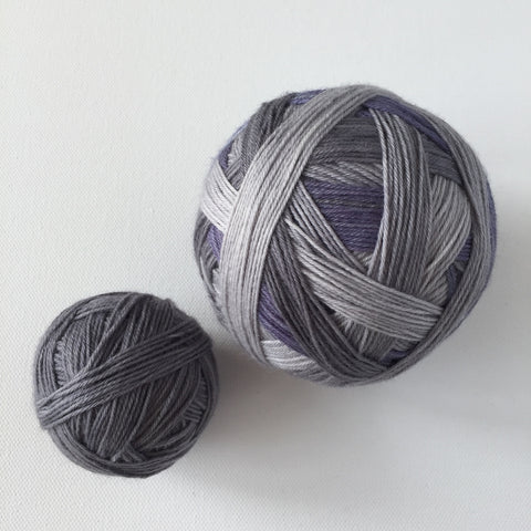 """Grayscale"" Self-striping Sock Yarn"
