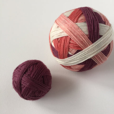 """Carnations"" Self-striping Sock Yarn"