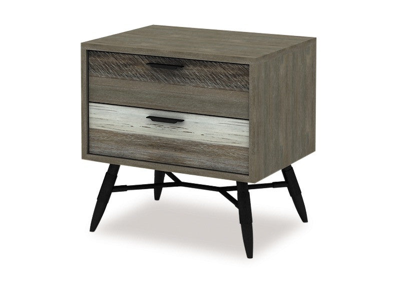 Havana 2 Drawer Bedside by Danske Mobler available at Fabers Furnishings