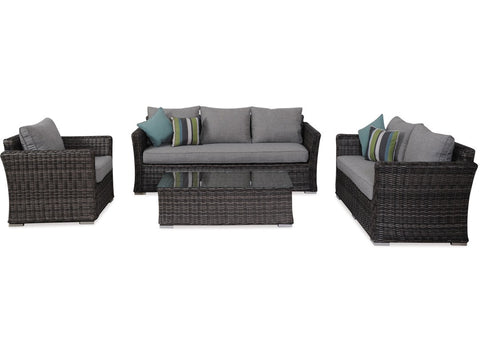Danske Mobler Bahamas Outdoor 4 Piece Lounge Suite available at Fabers Furnishings