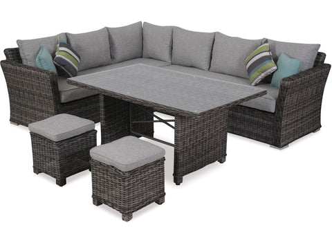 Bahamas 5 Piece Corner Low Dining at Fabers Furnishings