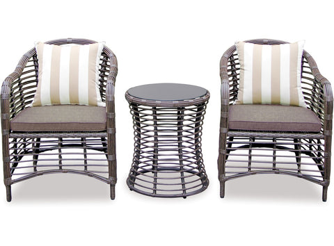 Danske Mobler Bermuda 3 Piece Wicker Suite available at Fabers Furnishings