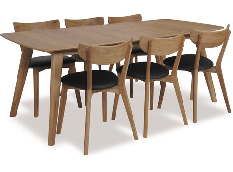 Rho 180cm Ext Dining Set available at Fabers Furnishings