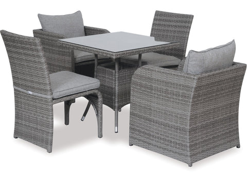 Two & Two Square Dining Set by Eden Outdoor available at Fabers Furnishings