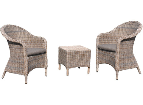 Kudo 3pce Woven Wicker Set by Eden Outdoor available at Fabers Furnishings