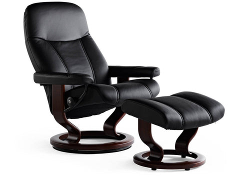 Consul Leather Recliner- Stressless at Fabers Furnishings