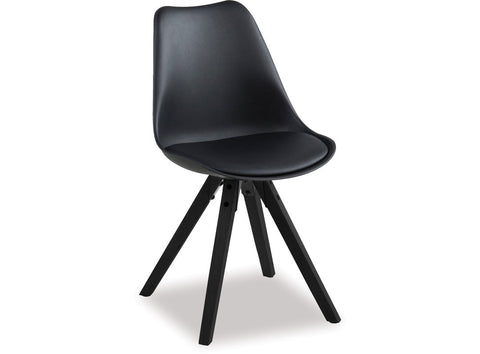 Dima Black Dining Chair available at Fabers Furnishings