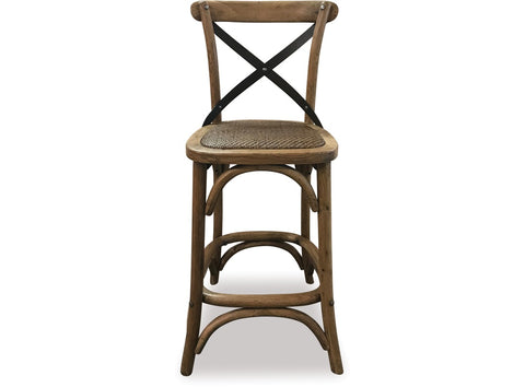 Danske Mobler Cross Barstool at Fabers Furnishings