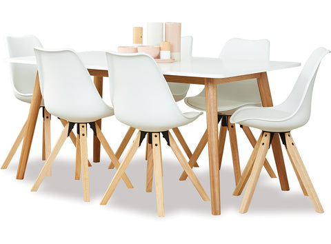 Fabers Furnishings Turin 1600 Dining Table & 6 Dima Chairs availalbe at Fabers Furnishings