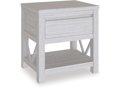 Danske Mobler Coastal Single Drawer Bedside available at Fabers Furnishings