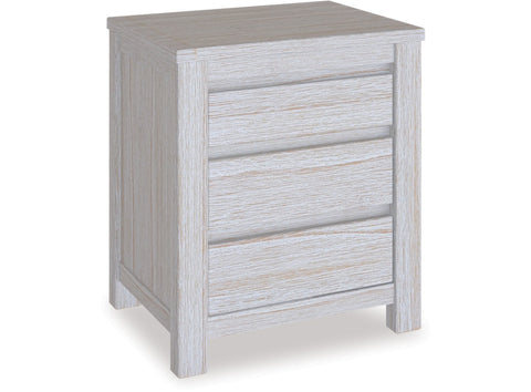 Danske Mobler Coastal 3 Drawer Bedside available at Fabers Furnishings