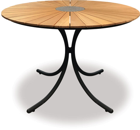 Danske Mobler Sintra 1100 Round Teak Dining Table available at Fabers Furnishings