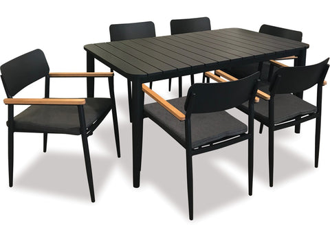 Piha 7pce Outdoor Dining Setting at Fabers Furnishing