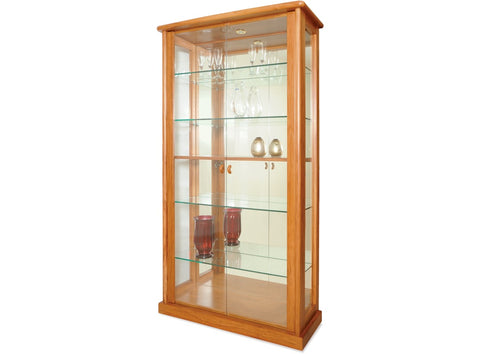 Danske Mobler Strada Tall China Cabinet (LED Light) available at Fabers Furnishings