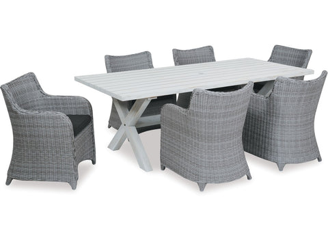 Danske Mobler Bali 7pce Outdoor Dining Suite available at Fabers Furnishings