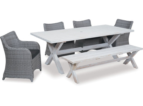 Danske Mobler Bali 6pce Outdoor Dining Suite available at Fabers Furnishings