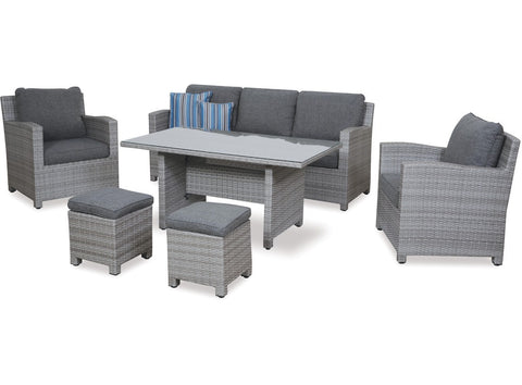 Baja 6 Piece Low Dining Set at Fabers Furnishings