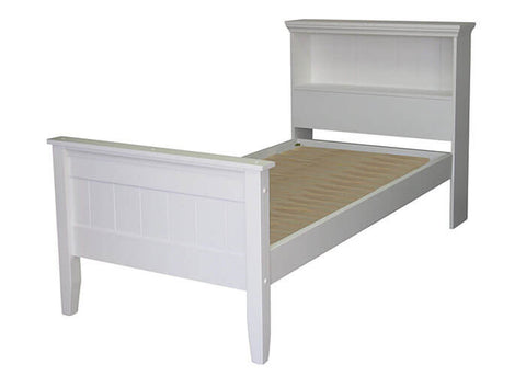 Adventure Slat Bed with Headend Shelf by coastwood available at Fabers Furnishings