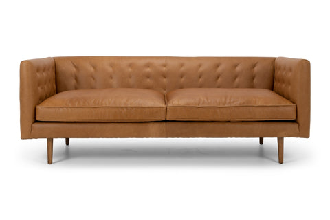 FbD Alfie Leather Lounge Suite 3 Seater Tan