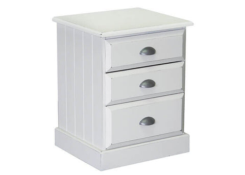 Andorra 3 Drawer Bedside available at Fabers Furnishings