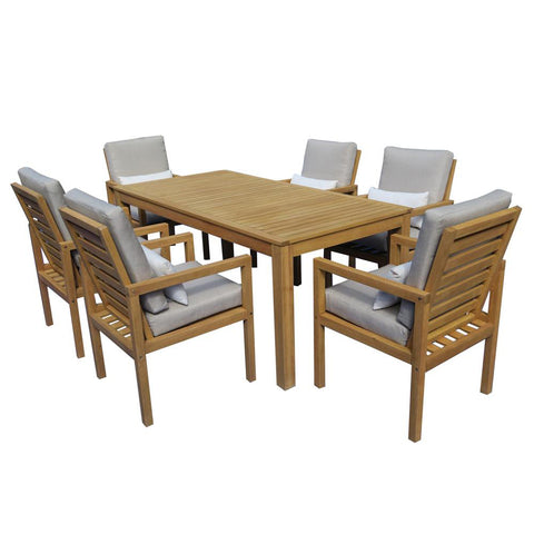 Augustine 7pce Dining Setting at Fabers Furnishings